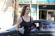 "Saffron Burrows films scenes for ""The Locator"" in South Beach. The show is a spinoff of the hit Fox show ""Bones""."