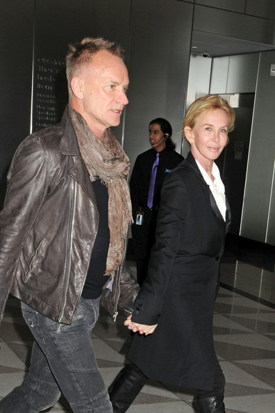 Sting and wife trudie styler attend the argo premiere in new york
