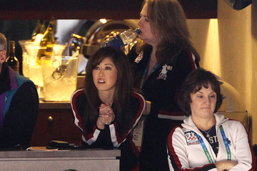Bonnie Blair Michael J Fox at the 21st Winter Olympic Games in Vancouver