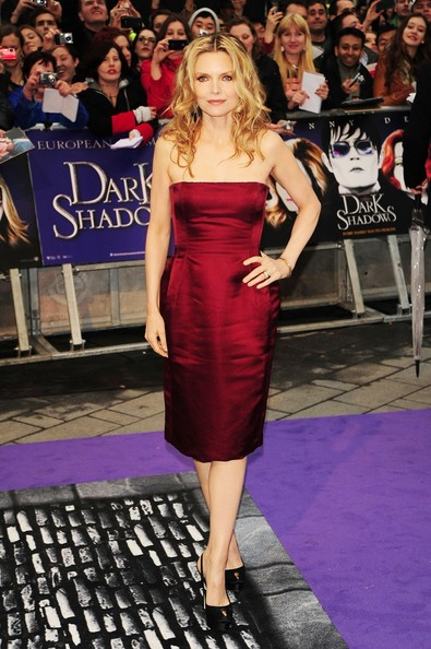 "Michelle Pfeiffer Michelle Pfeiffer attends the UK film premiere of ""Dark Shadows"" held at  the Empire Cinema, Leicester Square in London."