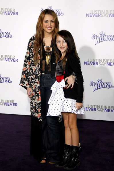"""Miley Cyrus Miley Cyrus at the Los Angeles premiere of """"Justin Bieber: Never Say Never"""" held at the Nokia Theatre L.A. Live, Los Angeles."""