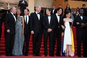 James Caan, Zoe Saldana, Billy Crudup, Noah Emmerich, Guillaume Canet, Clive Owen, Marion Cotillard and Jamie Hector attend the Premiere of 'Blood Ties' during the 66th Annual Cannes Film Festival at the Palais des Festivals in Cannes.