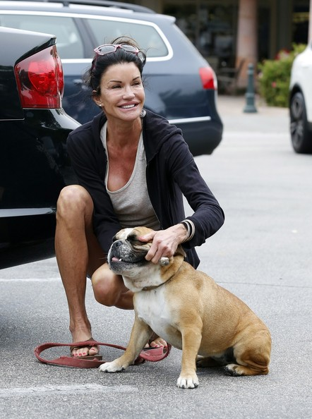 Photo of Janice Dickinson & her Dog Lloyd
