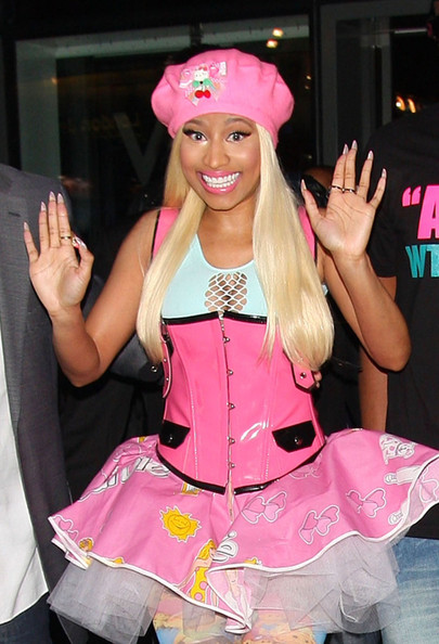 Nicki Minaj PRETTY IN PINK? Nicky Minaj leaves her hotel in London in another understated outfit.