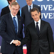 Robert Zoellick Nicolas Sarkozy (France), Barack Obama (USA) during the second day of the G20 Summit in Cannes, France at the Palais des Festivals