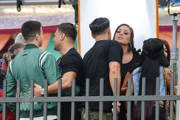 Nicole Polizzi Angelina Pivarnick The Cast of 'Jersey Shore' Film a Reunion Special