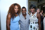 Venus Williams, Marcus Samuelsson and Serena Williams attend the 14th Annual BNP Paribas Taste Of Tennis at W New York Hotel in New York City.