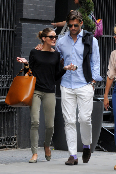 Olivia Palermo and boyfriend Johannes Huebl are seen out and about in New York City.