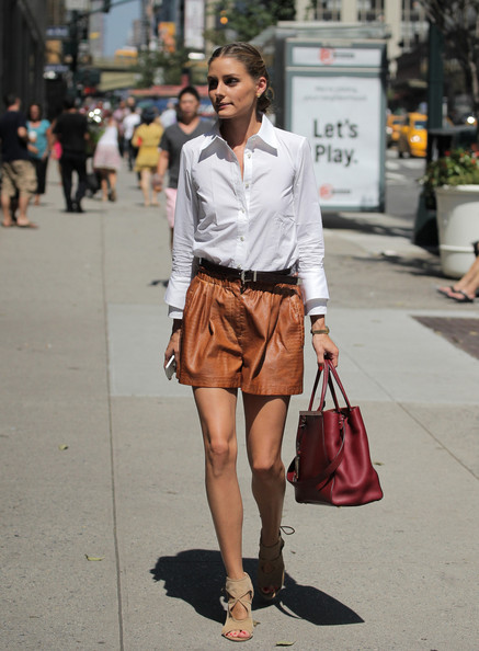 Olivia Palermo runs errands in New York City on July 17, 2013.