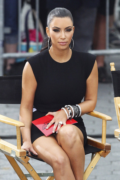 Kim Kardashian on the Set of 'Project Runway'