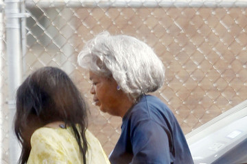 """Oprah Winfrey Lee Daniels OLD-PRAH! Oprah Winfrey wears a gray wig and appears to be showing some age as she walks around the set of """"The Butler"""" in New Orleans"""