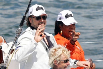 Oprah Winfrey Russell Crowe Oprah Winfrey, Russell Crowe and Danielle Spencer Sail in Sydney Harbour
