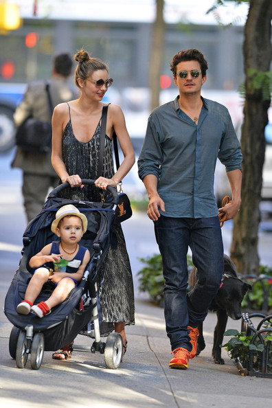 Thursday: Miranda Kerr and Orlando Bloom - The Week In ... Orlando Bloom And Miranda Kerr Baby Flynn 2013