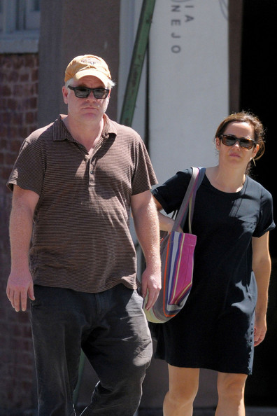 """Oscar winner Philip Seymour Hoffman strolls with his girlfriend Mimi O&squot;Donnell in the West Village. Hoffman is reportedly set to star in a Broadway adaptation of """"Death of a Salesman"""" next spring."""