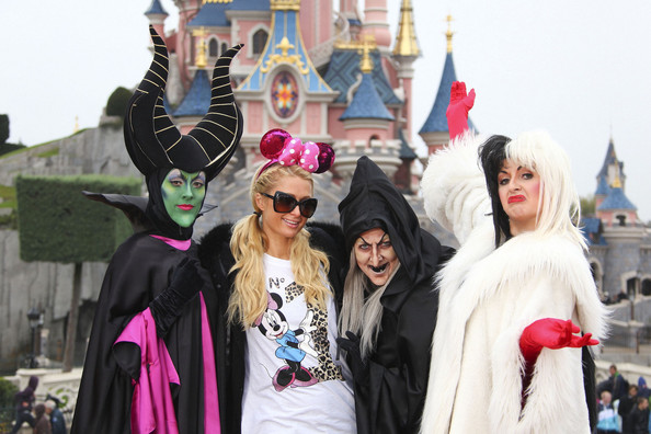 Paris Hilton - Paris Hilton Poses With a Witch