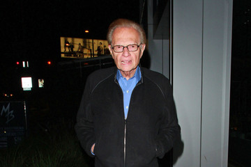 Larry King Paris Hilton Leaves BOA Steakhouse