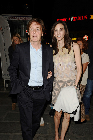 Paul McCartney - Paul McCartney and Nancy Shevell Out in Paris