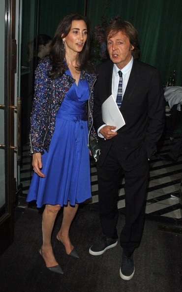 Paul McCartney - Paul McCartney and Nancy Shevell Leave Cecconi's in London
