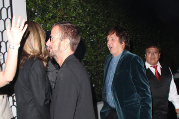 Paul McCartney Celebs Get Dinner Together In Hollywood