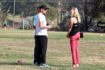 Paulina Slagter Ryan Phillippe and Paulina Slagter Head to Deacon's Soccer Game