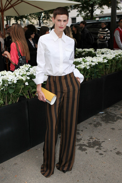 Saskia De Brauw attends the opening of the Fendi store at Avenue Montaigne in Paris.