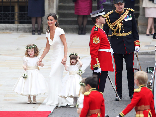 54317, LONDON, UNITED KINGDOM- Friday April 29 2011. Philippa Middleton with bridesmaids arriving at Westminster Abbey for the Royal Wedding of Prince William and her sister Kate Middleton  Photograph: ©Juan Soliz  PacificCoastNews.com **FEE MUST BE AGREED PRIOR TO USAGE** **E-TABLET/IPAD & MOBILE PHONE APP PUBLISHING REQUIRES ADDITIONAL FEES** UK OFFICE:+44 131 557 7760/7761 US OFFICE:1 310 261 9676..