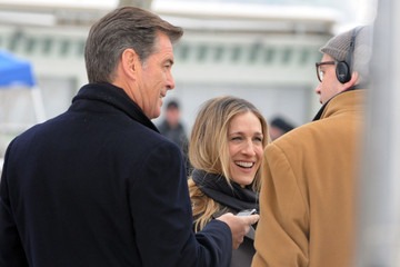 Douglas McGrath Pierce Brosnan and Sarah Jessica Parker Film in Manhattan