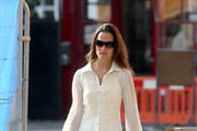 Pippa Middleton, sister of Catherine Duchess of Cambridge, wears a cute frilled blouse as she heads to work in London.