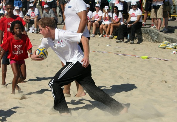 Prince Harry Plays Rugby in Brazil
