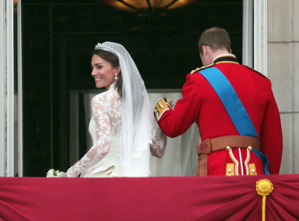 "Prince William Prince William and Catherine ""Kate"" Middleton now know as Duke & Duchess of Cambridge, wave to awaiting crowds from the balcony at Buckingham Palace after their marriage at Westminster Abbey which was watched by 2 billion people across the globe."