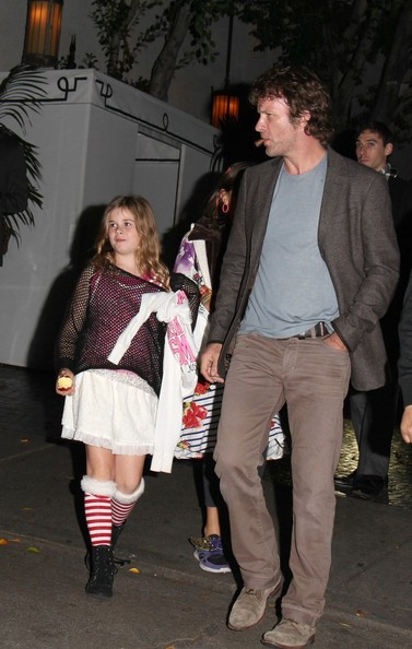 Thomas Jane and Daughter at Chateau Marmont