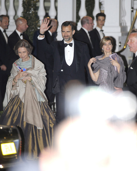 queen sofia and crown prince philippe of spain. Queen Sofia of Spain and