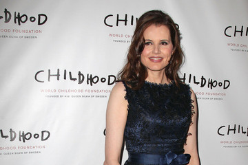 Geena Davis Queen Silvia of Sweden and Princess Madeleine of Sweden seen arriving to the 'World Childhood Foundation USA Gala' at Gotham Hall in New York