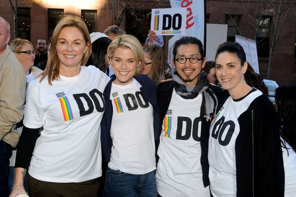Celebs at Marie Claire Magazine's Gay Rights Demonstration