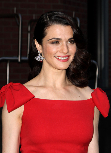 "Rachel Weisz - Mrs Daniel Craig - is radiant in red as she arrives at the Tribeca Grand Hotel for a screening of the movie ""The Whistleblower"". Wearing a pair of too-big nude pumps, the British actress posed for photographers before heading into the screening of the drama."