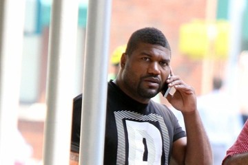 Rampage Jackson Quinton Jackson Walks with a Friend in NYC