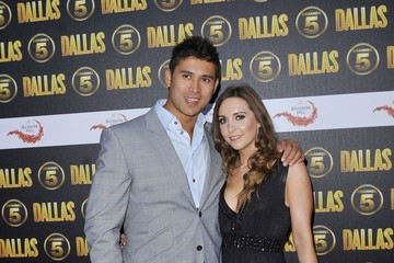Rav Wilding Cynthia Cidre Attending The Channel 5 Dallas Launch Party At Old Billingsgate