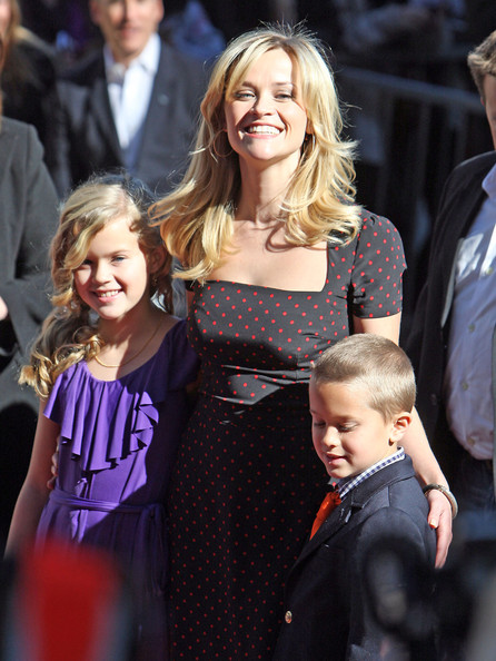 "Actress Reese Witherspoon receives a star on the Hollywood Walk of Fame accompanied by her two kids Ava and Deacon. Witherspoon had a special guest at the ceremony - Bruiser, the Chihuahua featured in her popular film ""Legally Blonde""."