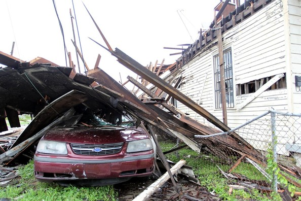 Residents Of New Orleans Venture Out To Survey The Damage