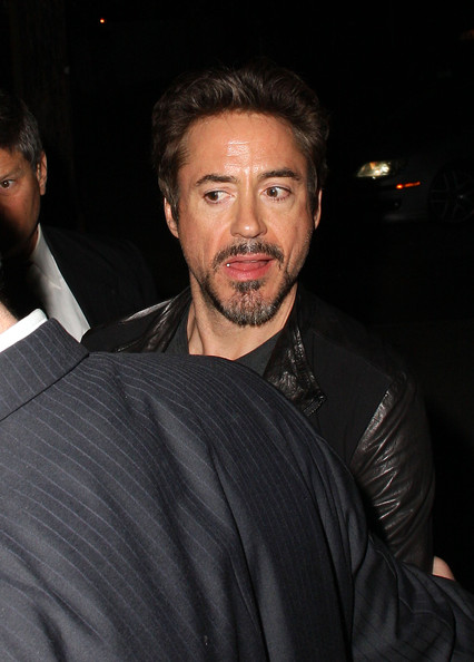 Robert Downey Jr. attends a pre-party for the Golden Globe Awards at The