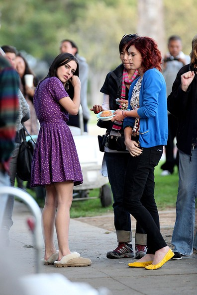 """Rumer Willis and Jessica Lowndes Filming """"90210"""""""