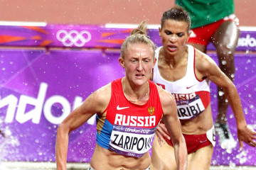 Russia Yuliya Zaripova of Russia wins the gold medal in the 3000m steeple during the 2012 London Olympics