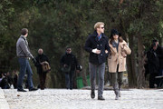 """70093, PARIS, FRANCE, Sunday, November 27, 2011, Ryan Gosling and Eva Mendes go for a walk at Pere Lachaise Cemetery. The """"Beyond the Pines"""" costars began dating in September after Mendes reportedly ended her long-term relationship with producer George Gargurevich over the summer. **NORTH AMERICAN USE ONLY** Photograph: © Visual, PacificCoastNews.com **FEE MUST BE AGREED PRIOR TO USAGE** **E-TABLET/IPAD & MOBILE PHONE APP PUBLISHING REQUIRES ADDITIONAL FEES**ÊLOS ANGELES OFFICE: 1 310 822 0419ÊÊLONDON OFFICE OFFICE: +44 208 090 4079"""