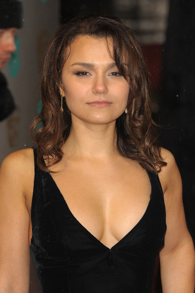 Samantha Barks Samantha Barks arrives at British Academy Film Awards ...