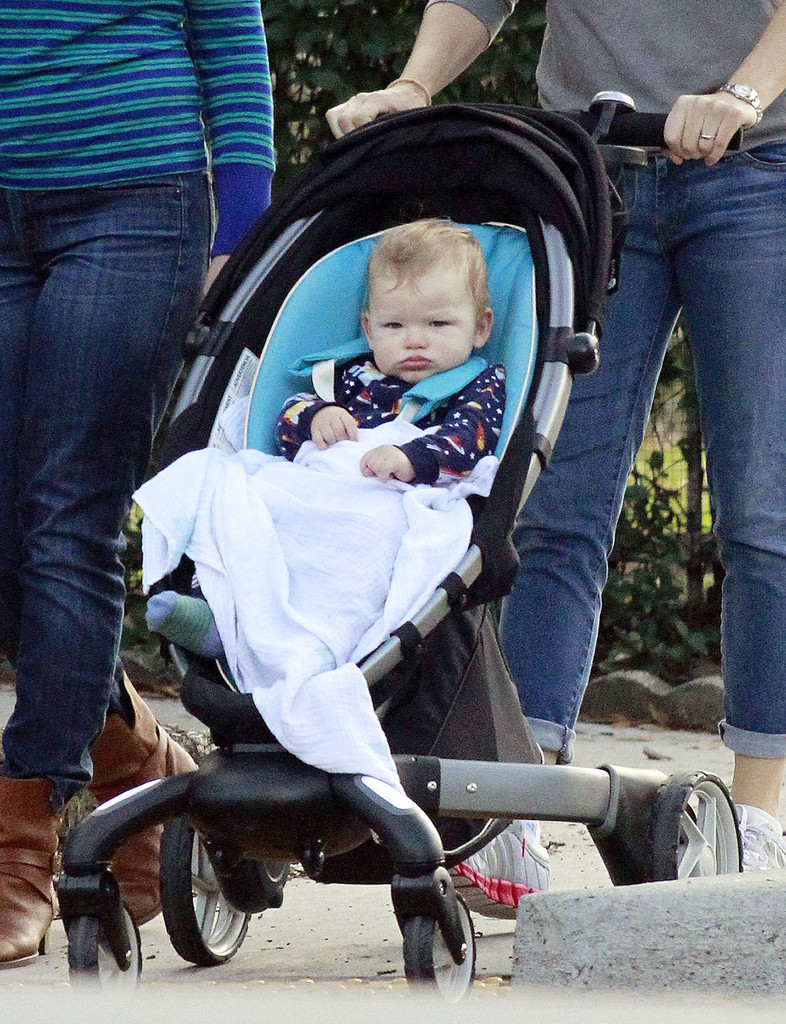 Samuel Affleck - Jennifer Garner Pushes Samuel Around New Orleans