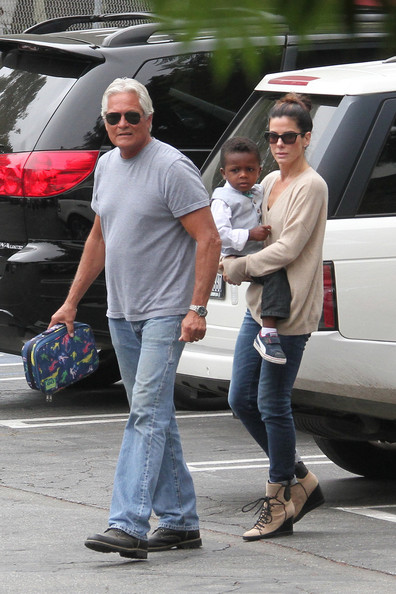 Sandra Bullock Picks Louis Up from School - Zimbio Sandra Bullock's Son