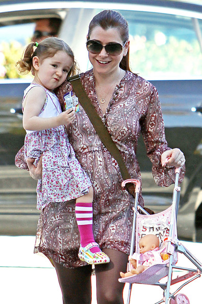 Photo of Alyson Hannigan & her  Satyana Marie Denisof
