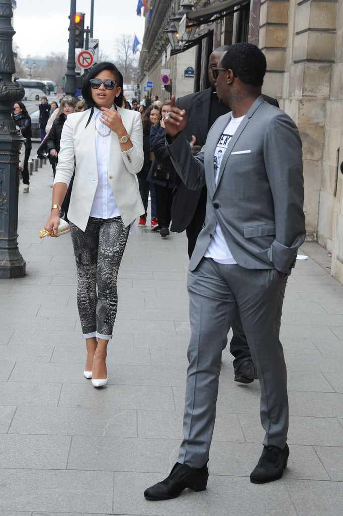 Diddy and Cassie at the Le Meurice - Zimbio