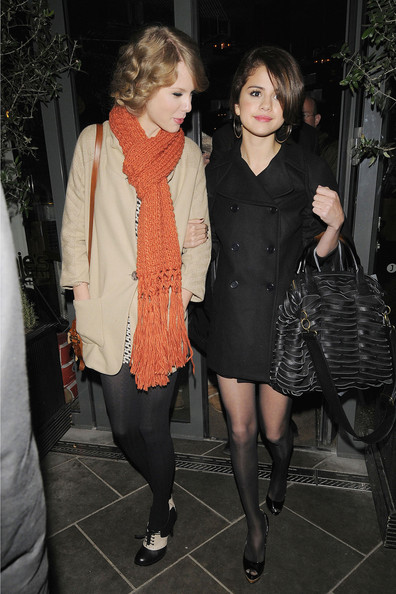 Selena Gomez BFFs Selena Gomez and Taylor Swift stop for some ice-cream during their night out together.