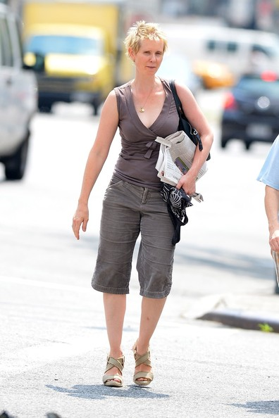 'Sex and the City' actress Cynthia Nixon is seen out with her wife Christine ...